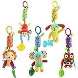 Pichidr-JP ベビー 赤ちゃん用おもちゃ 5個セット ベビーカー 吊り下げベル 人形 ハンドベル ベビーベッド 乳母車 おもちゃ キュートなウィンドチャイム