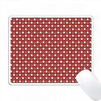 赤と白の大小の星パターン PC Mouse Pad パソコン マウスパッド