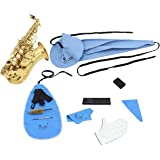 10-in-1 Saxophone Cleaning Kit Sax Clean Tools Saxophone Care Maintenance Set Includes Cleaning Cloth, Mouthpiece Brush, Mini