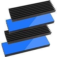 Tuloka 4個ヒートシンク 導熱接着シート4pcs付き 熱暴走対策 冷却ラジエーターフィンCPU ICチップ 回路基…