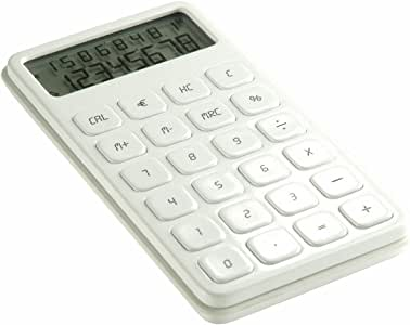LEXON ELA POCKET Calculator ホワイト LC58-W