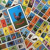 Mexican Lottery Bingo Set - Autentica Loteria Mexicano - Includes 10 Boards, 52 Card Deck, and Bingo Markers - Colorful