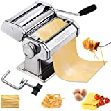 CHEFLY Sturdy Homemade Pasta Maker All in one 9 Thickness Settings for Fresh Fettuccine Spaghetti Lasagne Dough Roller Press