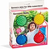 Edushape Sensory Balls, 4 Inch, Solid Colors, 4 Ball Set