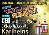 【Karlheins カールハインツ】 ハイ パワー 20W LED フォグ ライト オール イン ワン (ドライバー内蔵一体型) 2800k H8/H11/H16(T)・12V車/輸入車(キャンバス付き車)用 T-1