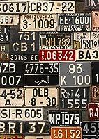 ポスター ウォールステッカー シール式ステッカー 飾り 257×364㎜ B4 写真 フォト 壁 インテリア おしゃれ 剥がせる wall sticker poster pb4wsxxxxx-008544-ds ユニーク ナンバー プレート カラフル 写真
