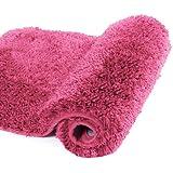 Walensee Bath Rug for Bathroom Non Slip Bathroom Mat Water Absorbent Soft Microfiber Shaggy Bathroom Rug Machine Washable Bat