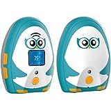 Timeflys Audio Baby Monitor Mustang Vibration Two Way Talk LCD Display Temperature Monitoring and Warning Lullabies Night Lig