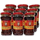 9本セット 老干媽 風味鶏油辣椒 鶏肉入り ラー油 中国名産 人気商品 280g x 9本