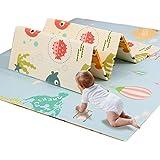 プレイマット ベビーマット 200X180X1cm 折り畳み式 赤ちゃんマット 両面使用 XPE素材 防水 防音 ベビーまっと 安全 無毒 無味