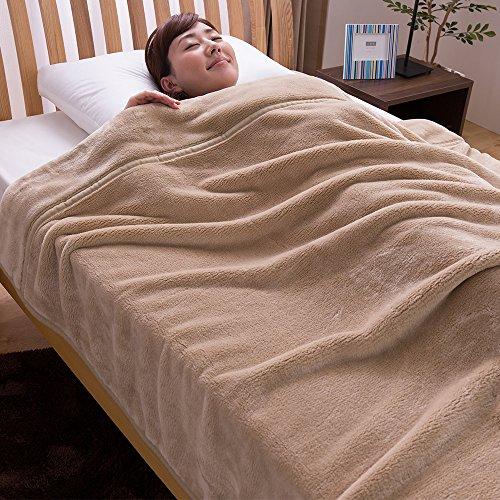 mofua ( モフア ) 毛布 カシミヤタッチ プレミアムマイクロファイバー シングル ベージュ 22030105