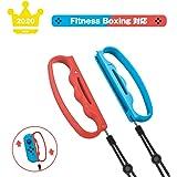 Fit Boxing 対応 フィットボクシング HKJPO スイッチ コントローラー Nintendo Switch NS Joy-Conフィットボクシング 専用ハンドル紛失防止ロープ2個セット,赤い&青い