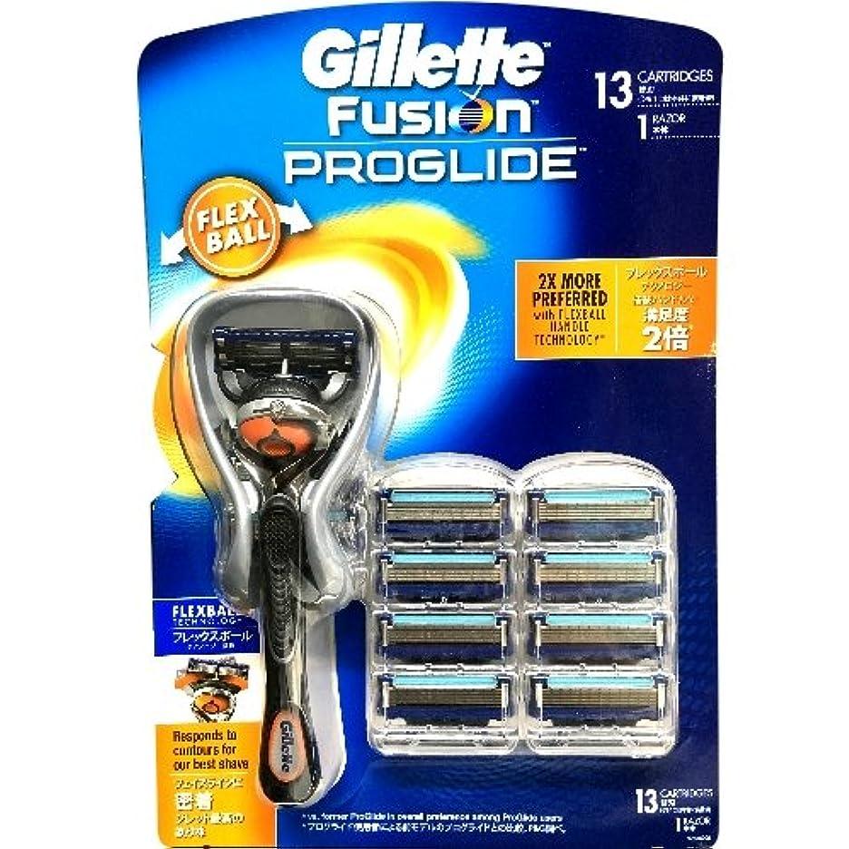 オーバーランの頭の上ミスGillette Fusion PROGLIDE ジレット フュージョン プログライド フレックスボール マニュアル ひげ剃り シェーピング 替刃13コ