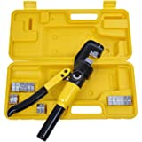 10 Ton Hydraulic Wire Force Terminal Crimper Cable Crimping Tool 9 Dies 4-70mm