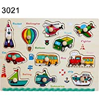 Eunomia Cartoon動物車フルーツ木製Matching Pegパズル早期教育玩具ギフト ミニ JJ16D485558D4N