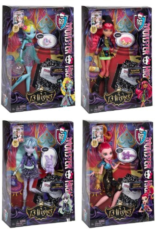 モンスターHigh 13 Wishes Doll Set of 4