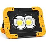 BORDAN LED投光器 作業灯 充電式「PSE認証」20W 4000lm高輝度 アウトドア用 4400mAH大容量 3つ点灯モード IP44防水 マグネット付き モバイルバッテリー機能付き 折り畳み式 コンパクト LED作業灯