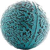 Decorative Blue Metal Sphere