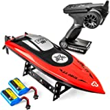 Altair AA102 RED RC Boat for Pools or Lakes [Ultra Fast Pro Caliber] Water Safety Propeller & Self Righting System | 2 Batter