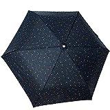 【ミッフィー】耐風骨採用折ミニ傘/55cm(フェイス/ブラック) 200010