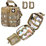 LIVANS Tactical First Aid Pouch, Molle EMT Pouches Rip-Away Military IFAK Medical Bag Outdoor Emergency Survival Kit Quick Re
