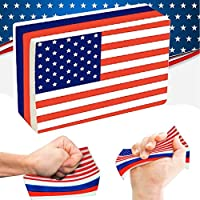 jeeKe応力Reliever玩具、アメリカ国旗Slow RisingコレクションSqueeze Decompression Toys for 4th of July