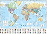 Collins World Wall Paper Map 画像