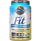 Garden of Life Raw Organic Fit Powder, Chocolate - High Protein for Weight Loss (28g) plus Fiber, Probiotics & Svetol, Organi
