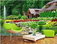 Bzbhart 3D壁画 壁画の壁紙別荘裏庭景色風景壁画壁用の 壁壁画壁紙-450cmx300cm