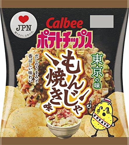 カルビー ポテトチップス もんじゃ焼き味 55g×12袋 (東京都)