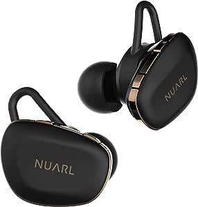 NUARL N6 Pro TWS 完全ワイヤレスイヤホン 連続11時間再生(最大55時間再生) aptX対応 高音質HDSS採用 Bluetooth5.0 IPX4耐水 N6PRO-MB(マットブラック)