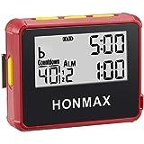 honmax 防水インターバルタイマー+ストップウォッチ,タイマーの用途: HIIT、Cross Fit、無酸素運動、重…