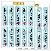 ディアカーズ オミとリカ 洗えるお名前シール-チャビーシール カップケーキ(背景水色) 3509-E9C-021