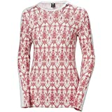 Helly Hansen Women's HH LIFA Merino Wool Graphic Print 2-Layer Crewneck Thermal Baselayer Top