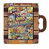 Masterpieces See America 1000ピーススーツケースジグソーパズル