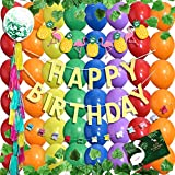 deerzon 虹色 風船 デコレーション 230点セット バースデーカード 付き 誕生日 飾り付け 男の子 女の子 (レインボー)