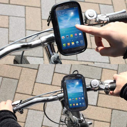 DFV mobile - Professional Support for Bicycle Handlebar and Rotatable Waterproof Motorcycle 360? for => PANTECH DISCOVER P9090 (PANTECH MAGNUS) > Black