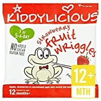 Kiddyliciousイチゴ果実は12グラムをうごめきます (x 4) - Kiddylicious Strawberry Fruit Wriggles 12g (Pack of 4) [並行輸入品]