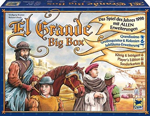 エルグランデ ビッグボックス (El Grande: BigBox) 【日本語シール付属】 ドイツ語版 日本語ルール ボードゲーム