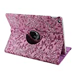 ケース ipad 手帳型、SIMPLE DO 360度回転式 スタンド機能 三つ折り 軽量 持ち運び便利 耐衝撃 レディース 女子 人気 おしゃれ 通勤 iPad Air 9.7インチ対応(パープル)