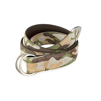 Camouflage D-Ring Belt: Beige