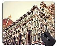 マウスパッド滑り止め、Firenze Buddha Statue無料ラバーマウスパッド