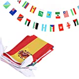 ANLEY 100 Countries String Flag, International Bunting Pennant Banner, Decoration for Grand Opening, Sports Bar, Party Events