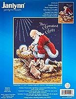"Kneeling Santa Counted Cross Stitch Kit-11""X14-1/2"" 14 Count (並行輸入品)"