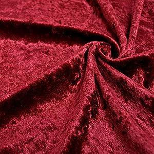 手芸のいとや 生地 ベロア布 クラッシュベロア 無地 ダークレッド 生地幅-約112cm×50cmカット ポリエステル100% 手芸・ハンドメイド用品