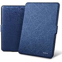 EKStore 【Amazon Kindle Paperwhite Case キンドルケース】シンプル/軽量/専用/質よい/PUレザー スリム ケース カバー Kindle Paperwhite1/2/3/5/6世代対応 【全6色】 ディープブルー