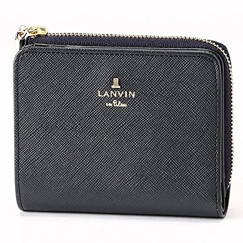 ランバンオンブルー(LANVIN en Bleu) リュクサンブール 2つ折りファスナー財布【ダークネイビー/**】