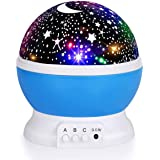 Night Light for Kids, Fortally Kids Night Light, Star Night Light, Nebula Star Projector 360 Degree Rotation - 4 LED Bulbs 12