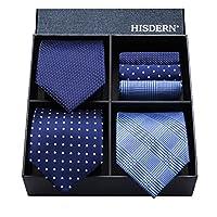 (ヒスデン) HISDERN メンズ 洗える ネクタイ ハンカチ 3本 セット 収納BOX 付き ビジネス結婚式 就活 プレゼント 様々なセットを選べる TB3001