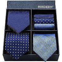 (ヒスデン) HISDERN メンズ 洗える ネクタイ ハンカチ 3本 セット 収納BOX 付き ビジネス結婚式 就活 プレゼント 様々なセットを選べる